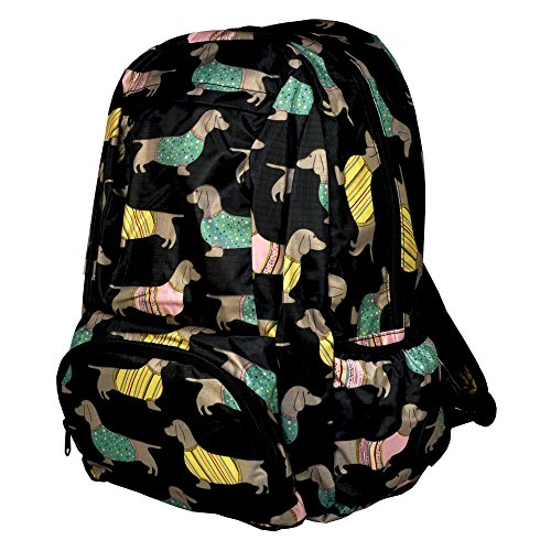 Re-Uz Essential Casual School UnisexTravel Adults Girls Boys Backpack Rucksack Daypack - Sausage Dog