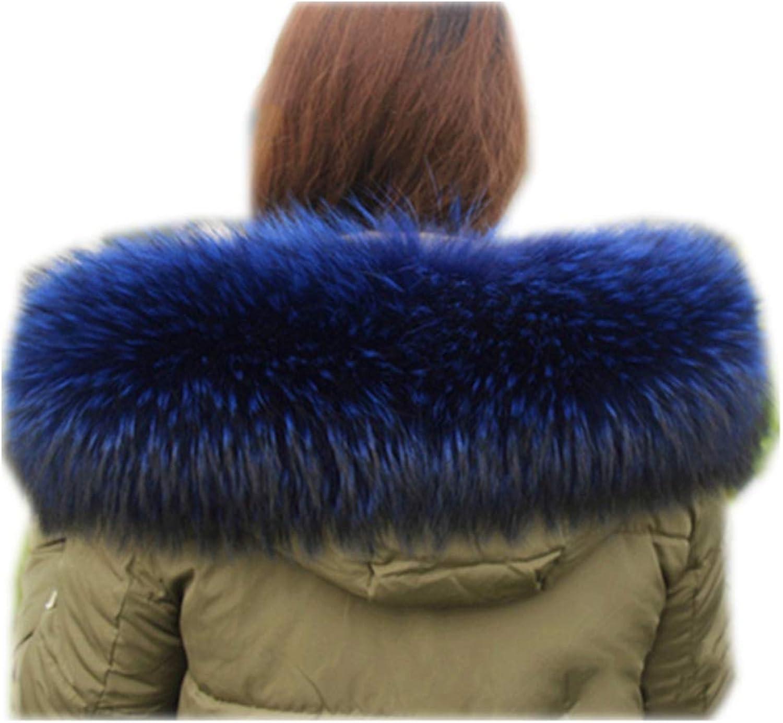 Gegefur Women's Real Raccoon Fur Winter Collar Scarves Scarf Warmer