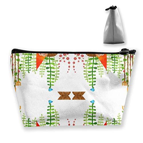Un gnomo sin su herramienta de jardinería, bolsa de almacenamiento, bolsa de cosméticos bolsa de viaje bolsa de maquillaje trapezoidal con cremallera impermeable artículos de tocador
