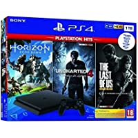 Pack: Sony PS4 Slim 1TB + Horizon Zero Dawn + Uncharted 4 + The Last of Us (Android)