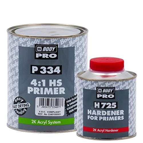 Aparejo HS P334 2K HBBody - 1,25 L (1 + 0,25), Gris claro