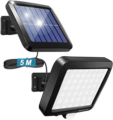 Faretto con Pannello Aolare Ultraluminoso a 56 LED con Sensore di Movimento