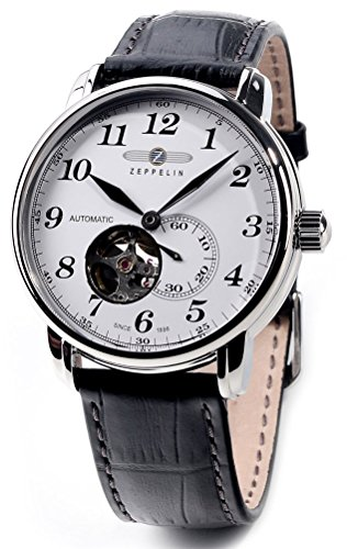 ツェッペリン 腕時計 日本製ムーブメント Graf 自動巻き オープンハート スモールセコンド 7666-1 [並行輸...
