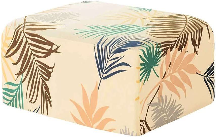 Printed Ottoman Slipcovers Rectangle Protector Stretch sale Super beauty product restock quality top Footstool
