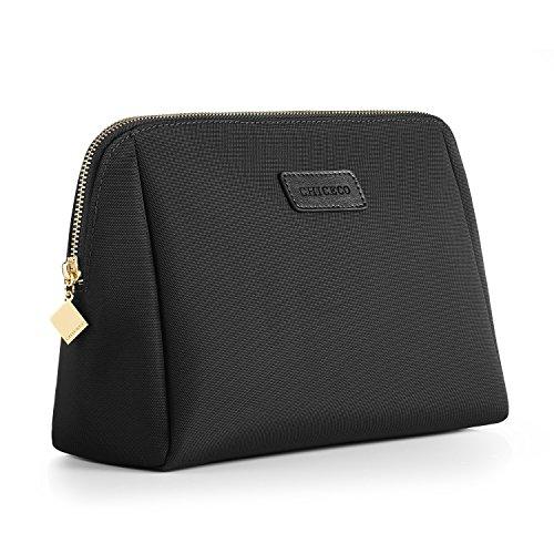 CHICECO Nylon Groß Kosmetiktasche für Handtasche, 1 Schwarz, L