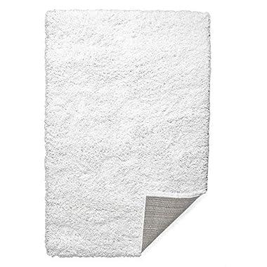Super Area Rugs Shag Soft Living Room, 7'10  x 9'10 , White