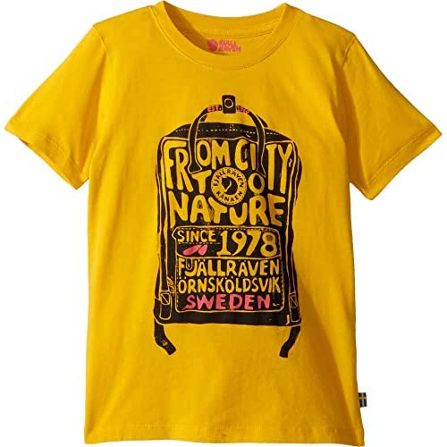 Fjällräven Kånken Kids T-Shirt Maglietta, Dente di Leone, 5/6 Años Unisex Bambini