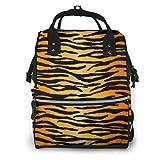 nbvncvbnbv Animal Print Tiger Black Gold Pañal Bolsa Multifunción Impermeable...