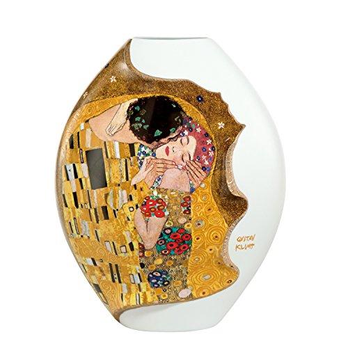Goebel - Vase Der Kuss - Gustav Klimt - Porzellan mit Echtgold - Höhe 30 cm