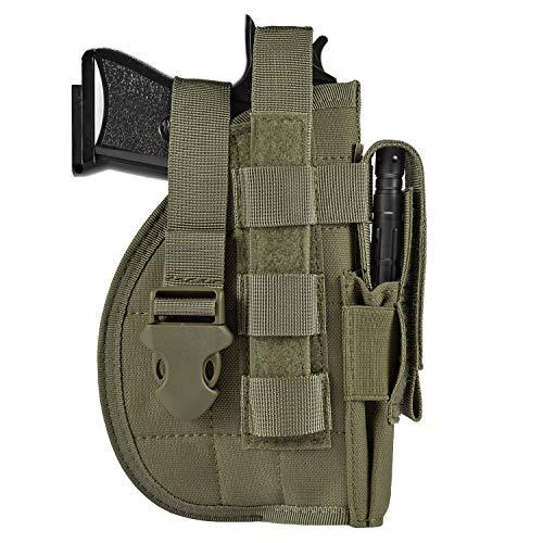 DYJ Adjustable Right Handed Tactical Molle Modular Belt Holster for Pistol(1000D) (Ranger Green)