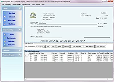 ezPaycheck Payroll Software 2020 & 2021 Combo Version
