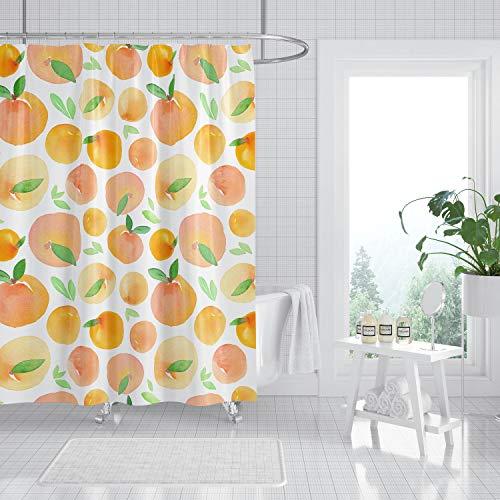 565pir pfirsich-dusch-vorhang dusch-vorhang bad-dekoration pfirsich-bad dusch-vorhänge haus-dekor bade-vorhang obst
