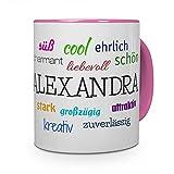 printplanet Tasse mit Namen Alexandra - Positive