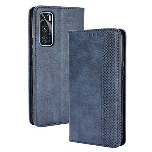 FANFO® Hülle für vivo Y70 HandyHülle, Premium PU Leder Tasche Magnetverschlüsse Schutzhülle Flip Wallet Klapphülle Folio Book Style Hülle Cover, Blau