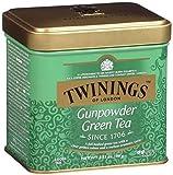 Twinings of London - Green Gunpowder Tea - Té verde en Hebras - Ideal para Tus Momentos de Relax- 100 Gramos
