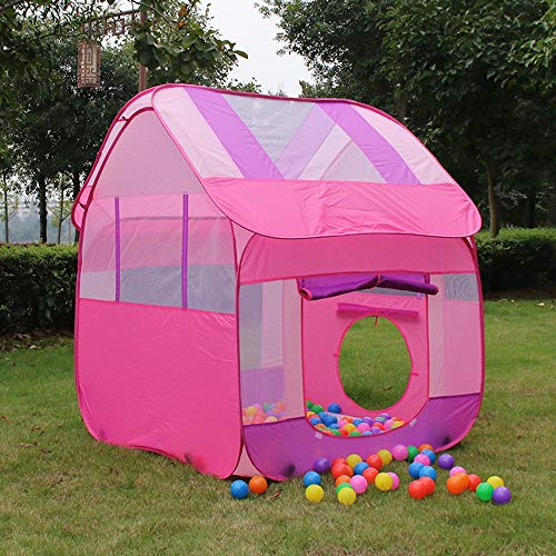 ACCDUER Kid Tent, Pop Up Children Play Tent, Happy Time Play House Kids Play Tent with for Indoor Outdoor Use Instant Set-UpThe Best Gift for Birthday,Pink