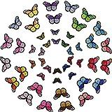 Sopito Mariposa Hierro en parche 46 PCS 2 tama├▒os Apliques de bordado