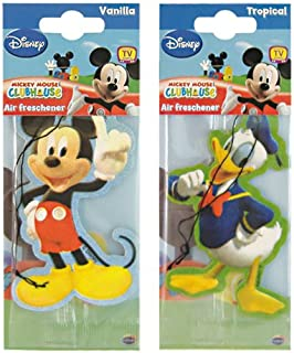 2er Set Lufterfrischer Micky + Donald