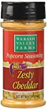 Wabash Valley Farms Popcorn Seasoning Salt 5 oz., Zesty Cheddar Cheese - Convenient Shaker Bottle for Easy Application - Great for Veggies, Dips and More - Fat-Free, 0 Calories - Gourmet Quality