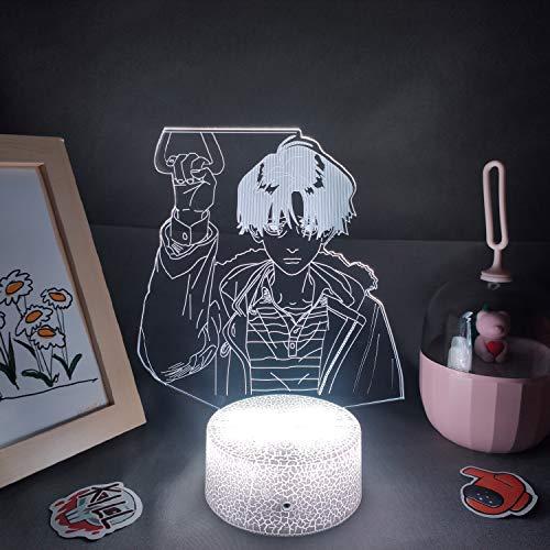 Killing Stalking Yoon Bum Lámpara de lava Anime Figura 3D Led Manga RGB Luces de Noche Cumpleaños Cool Regalo para Amigo Dormitorio Decoración de Mesa