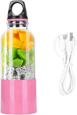 500ML Electric Juicer Cup, Portable Automatic Vegetables Fruit Juice Maker USB Rechargeable Smoothie Blender Mixer Bottle for