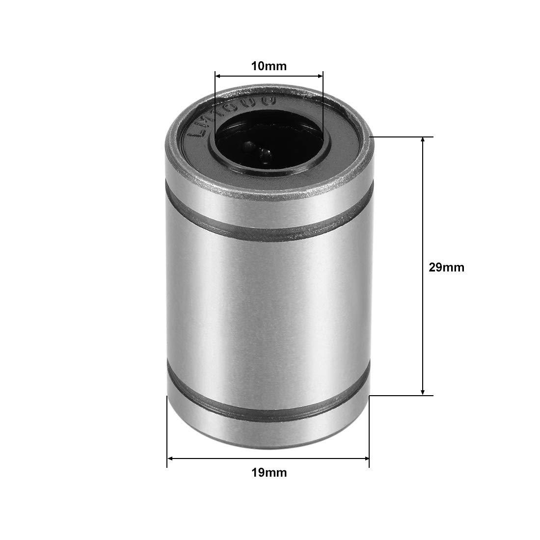15 mm L/änge 3D-Drucker sourcing map LM5UU Linear-Kugellager 10 mm Au/ßendurchmesser 5 mm Bohrung f/ür CNC-Maschine 4 St/ück