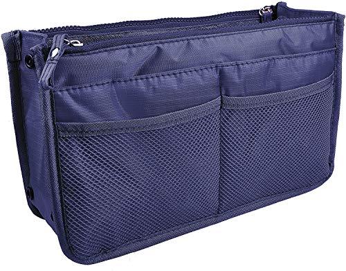Witery, trousse con doppia cerniera per cosmetici, borsa da toeletta con rete per organizzazione make up, per viaggi e uso domestico, Navy Blue (blu) - SPTA0016-05