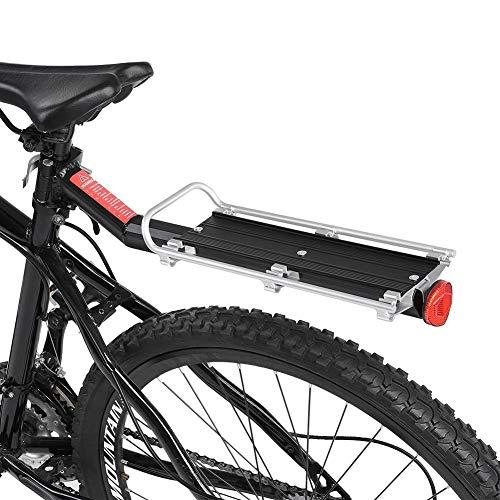 Portabultos Bicicleta Bicicletas portabicicletas bandeja trasera Ciclismo portaequipajes posterior del tronco bici del camino de MTB soportar carga con la luz del reflejo de la placa Portaequipajes Pa