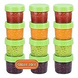 Contenants en verre pour aliments pour bébés, pots de nourriture pour bébés étanches, sans...