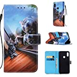 Lomogo Leather Wallet Case for Xiaomi Redmi Note 7/Note 7Pro/Note 7S with Stand Feature Card Holder Magnetic Closure, Shockproof Flip Case Cover for Xiaomi Redmi Note7 Pro - LOYBO450503 L3