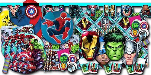 Avengers Kindergeburtstag Set XXL - Partydeko & Partygeschirr im Sparset
