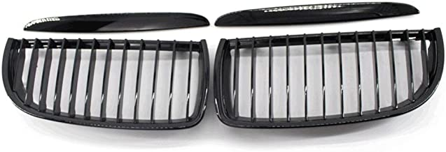 A Pair Of Gloss Black ABS Plastic Front Hood Kidney Sport Grille Grill For BMW 3 Series BMW E90 E91 2005-2007