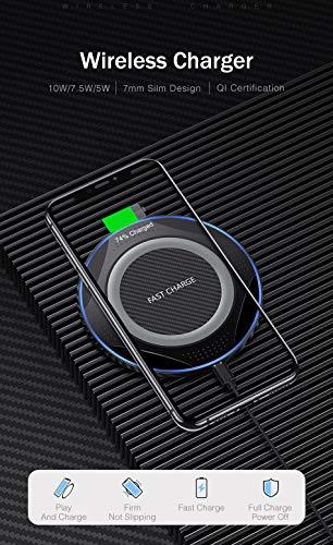 10w Qi Cargador Inalámbrico Rápido Inducción De Carga Rápida Pad De Carga Usb Para Iphone 11 Pro Xs Xr X 8 Para Samsung S10 S9 S8 Nota 10 9