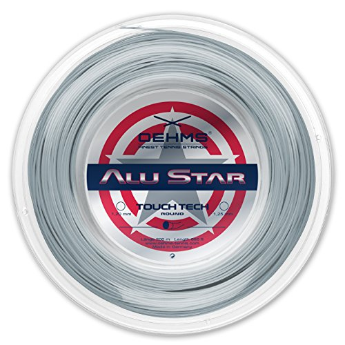 Oehms Alu Star Touch Tech | Runde Co-Polyester Tennis-Saite | 200 m Rolle | 1.25 mm