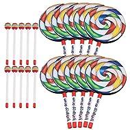 lovermusic Lovermusic 10PCS Lollipop Shape Drum Hand Drum Musical Sound Tool Musical Instruments Colorful