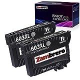 Zambrero 603XL Schwarz Patronen Ersatz für Epson 603 Druckerpatronen Kompatibel mit Epson...