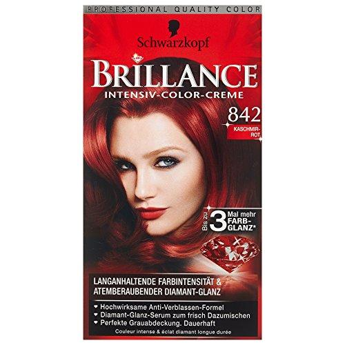 Schwarzkopf Brillance Coloration Stufe 3, 842 Kaschmirrot, 143 ml