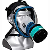 Gas Mask Full face, Large Size Accessories Respirator Canister Chemical masks, Widely Used in Organic Gas/Paint Spary/Chemical/Woodworking/Dust Protectio