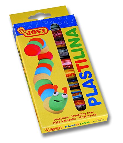 Jovi- Plastilina, Color surtido multicolor, 10 colors (216005)