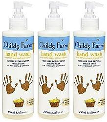 Award-winning Childs Farm hand wash in grapefruit and organic tea tree oil