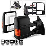 ACANII - For 2008-2016 Ford F250 F350 Super Duty Telescoping Power Heated w/Turn Signal Towing Side Mirrors Left+Right