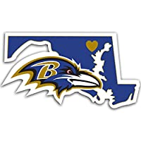 """NFL Baltimore Ravens Home State Decal, 5"""""""