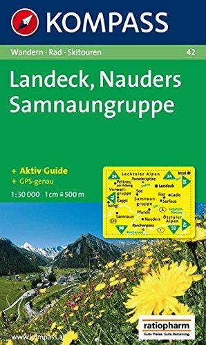 Landeck, Nauders, Samnaungruppe: Wandern / Rad / Skitouren. GPS-tauglich. 1:50.000