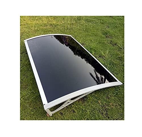 GXFWJD Tejadillo Protección/marquesina para Ventana/toldos para Jardin Exterior/Ventana Puerta Exterior Toldo con Soporte Negro Protéjase del Sol La Lluvia (Color : Brown, Size : 60x100cm)