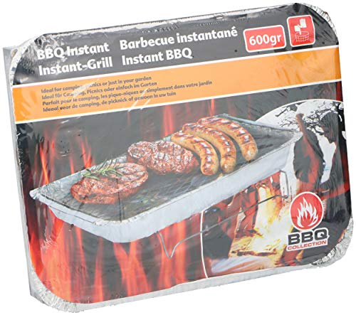 BBQ Collection 02809 Parrilla desechable para barbacoa, Acero 18/10, aluminio