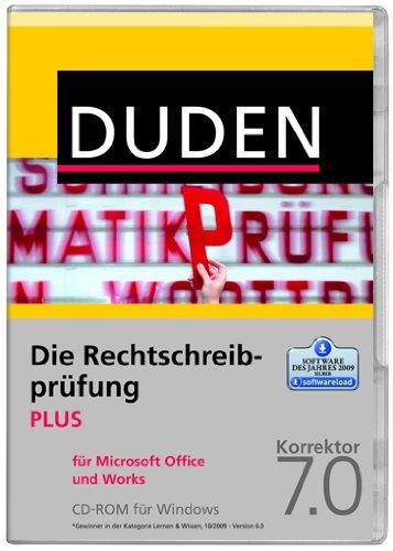 DUDEN Die Rechtschreibprüfung PLUS f.MS Office u.Works, Korrektor 7.0