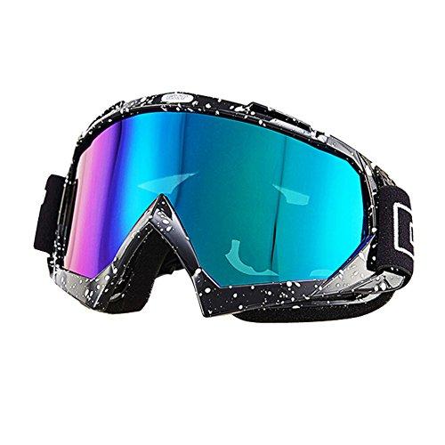 Nicole Knupfer Skibrille Motorradbrillen Schutzbrille,Winter Schnee Sport Snowboardbrille,Skibrille Für Damen Und Herren Jungen Und Mädchen (Schwarz)