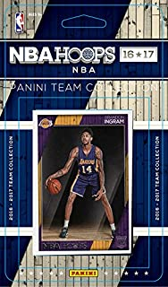 Los Angeles Lakers 2016 2017 Hoops Basketball Factory Sealed 11 Card NBA Licensed Team Set with D'Angelo Russell Brandon Ingram Rookie Plus