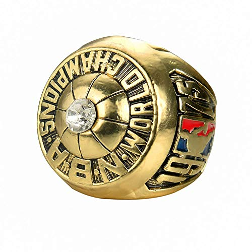 Fei Fei NBA 1975 Golden State Warriors Championship Ring Champion Ring Superbowl Rings Replica Creative Ring para Mujeres y Hombres,Without Box,10