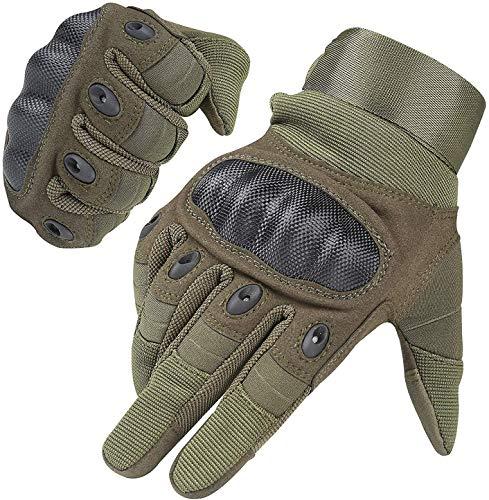 HIKEMAN Handschuhe für Männer und Frauen Touch Screen Hart Knuckle Handschuhe für Outdoor Sport und Arbeit geeignet für Radfahren Motorrad Wandern Klettern Lumbering Heavy Industry(Army Green,M)